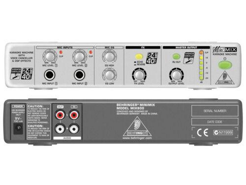 BEHRINGER MIX800 MiniMix PROCESSORE PER KARAOKE CON EFFETTI