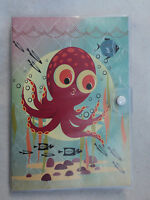 M Octopus Coelacanth Travel Journal Vinyl Cover 5 X 7 Sketch Lined Blank Book