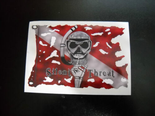 SILENT THREAT SPEARFISHING T-SHIRTS SCUBA DIVE WITH FREE SPEARFISHING DECAL