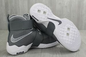 f2ae1ed8d41 Men s Nike Lebron Soldier X Wolf Grey White Shoes 844374-002 New
