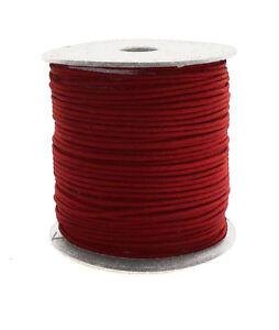 100m-Baumwollband-0-13-1m-dunkelrot-1-5-mm-rund-poliert-gewachst-Rolle-Spule