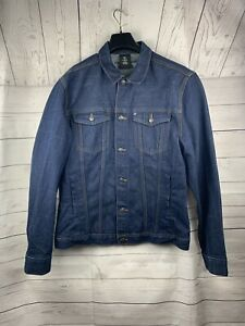 100% authentic matching in colour reasonable price Details about H&M large men's denim jacket-dark wash