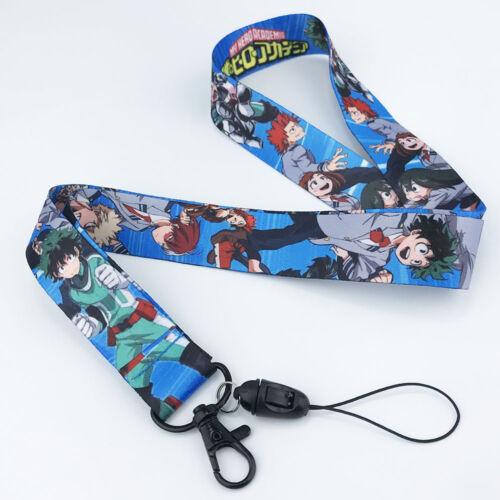 Anime My Hero Academia Lanyard Neck Strap Cell Phone Rope Chain Camera Keychain
