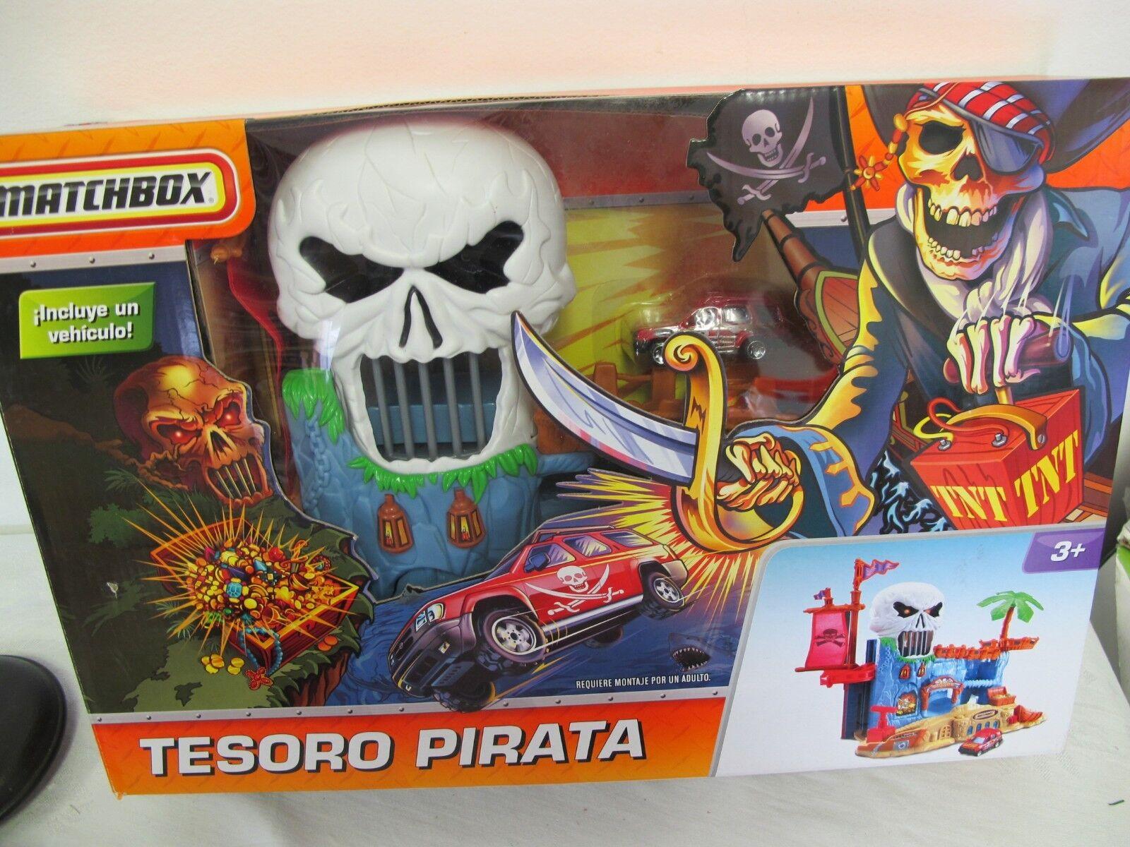 Matchbox ein piratenschatz tesGold pirata spanischen kasten schädel playset neue