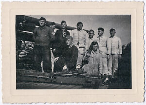 2-Weltkrieg-Soldaten-mit-Atlantikwall-Geschuetz-Original-Photo-um-1940