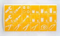 Mechanic Tool Chest/ Box Label Decals Identification Mac Tools Craftsman Snap On