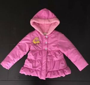 Sunny Euc Tangled Jacket Disney Sz 4 4t Girl's Disney Store Coat Rapunzel Pink Puffer Handsome Appearance Baby & Toddler Clothing Outerwear