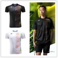 Men's Sportswear Badminton Clothes Tennis Tops Short Sleeve T Shirt 3032a