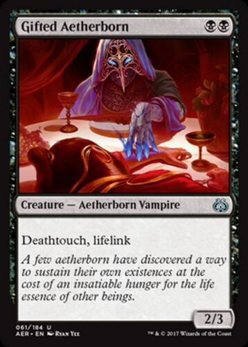 Gifted Aetherborn MTG magic AET MRM FRENCH Etherien doué