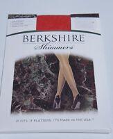 Berkshire Hosiery Shimmers Sz 4 Red Ultra Sheers Control Top Panthose 4429