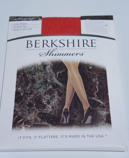 1cc94e66409 Berkshire Hosiery Shimmers Sz 2 Red Ultra Sheers Control Top Panthose 4429  for sale online