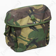ORIGINAL BRITISH ARMY DPM CAMO RESPIRATOR HAVERSACK/BAG