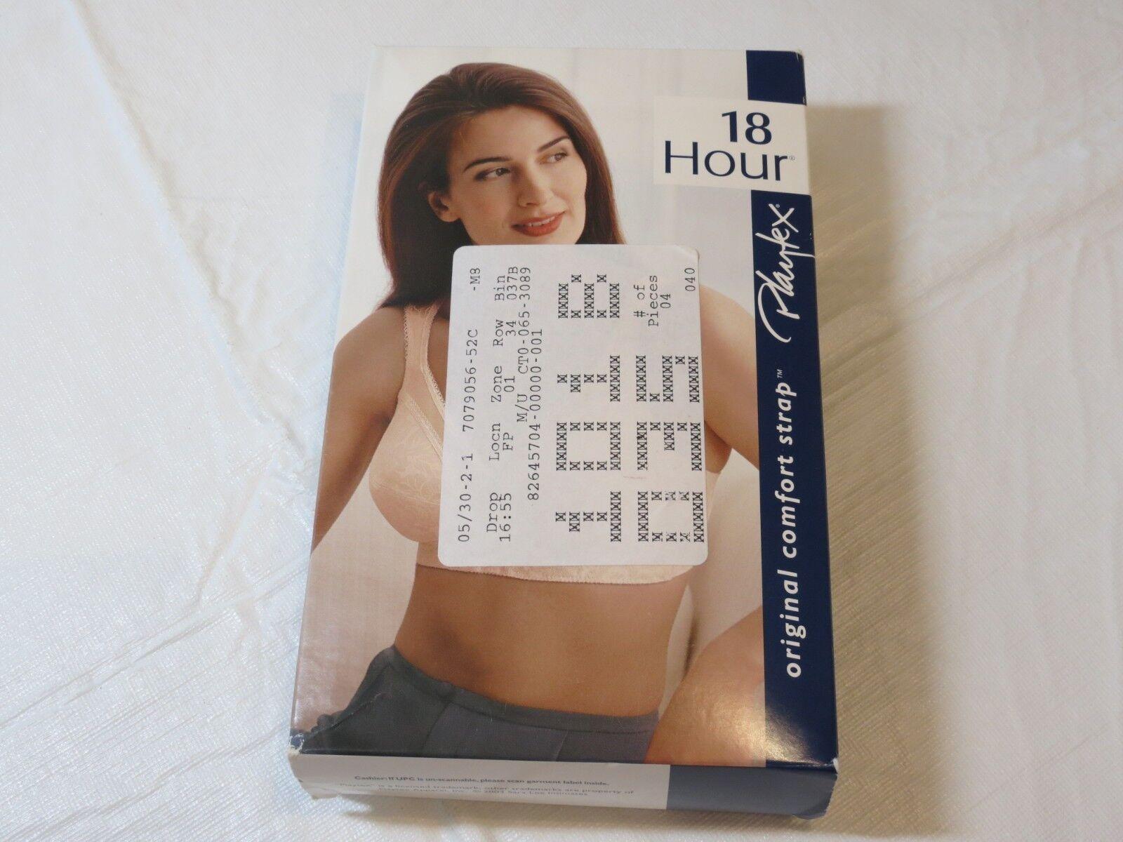 Original Comfort Strap Playtex 18 Hour Bra 4693 Soft Cup 52C Beige Womens NOS