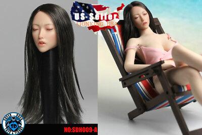 SUPERDUCK 1//6 female head closed eye SDH009 B for Phicen hot toys verycool ❶USA❶