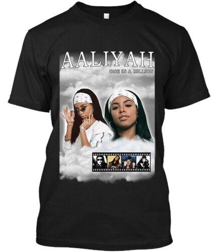 SIZE S-5XL Aaliyah American Rap T Shirt Größe