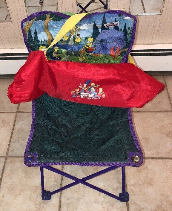 The Simpsons Family Kid Sized Fold  Up Camping Chair Southbend  sale online discount low price