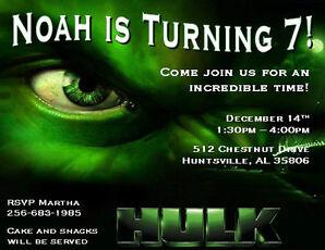 s l298 incredible hulk birthday invitations collection on ebay!,Hulk Birthday Invitations