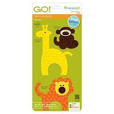 Accuquilt GO! Baby Fabric Cutter Zoo Animals Monkey Giraffe Lion Die 55369
