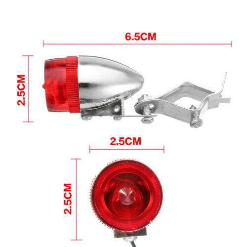 12V 6W Mountain Bike LED Safety Warning Light Bicycle Taillight Retro Rear Lamp