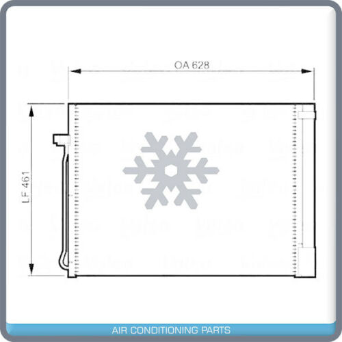 New AC Condenser w// Drier for BMW X5 2007-16 /& X6 2008-14 6450923999 QA