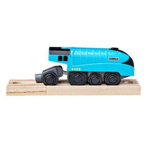 Bigjigs-Rail-Mallard-Battery-Operated-Engine-Train-Locomotive-Carriage-Railway