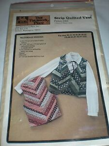STRIP-QUILTING-VEST-FABRIC-PATCHWORK-PLACE-WOMENS-CLOTHING-PATTERN-SEWING-30-42