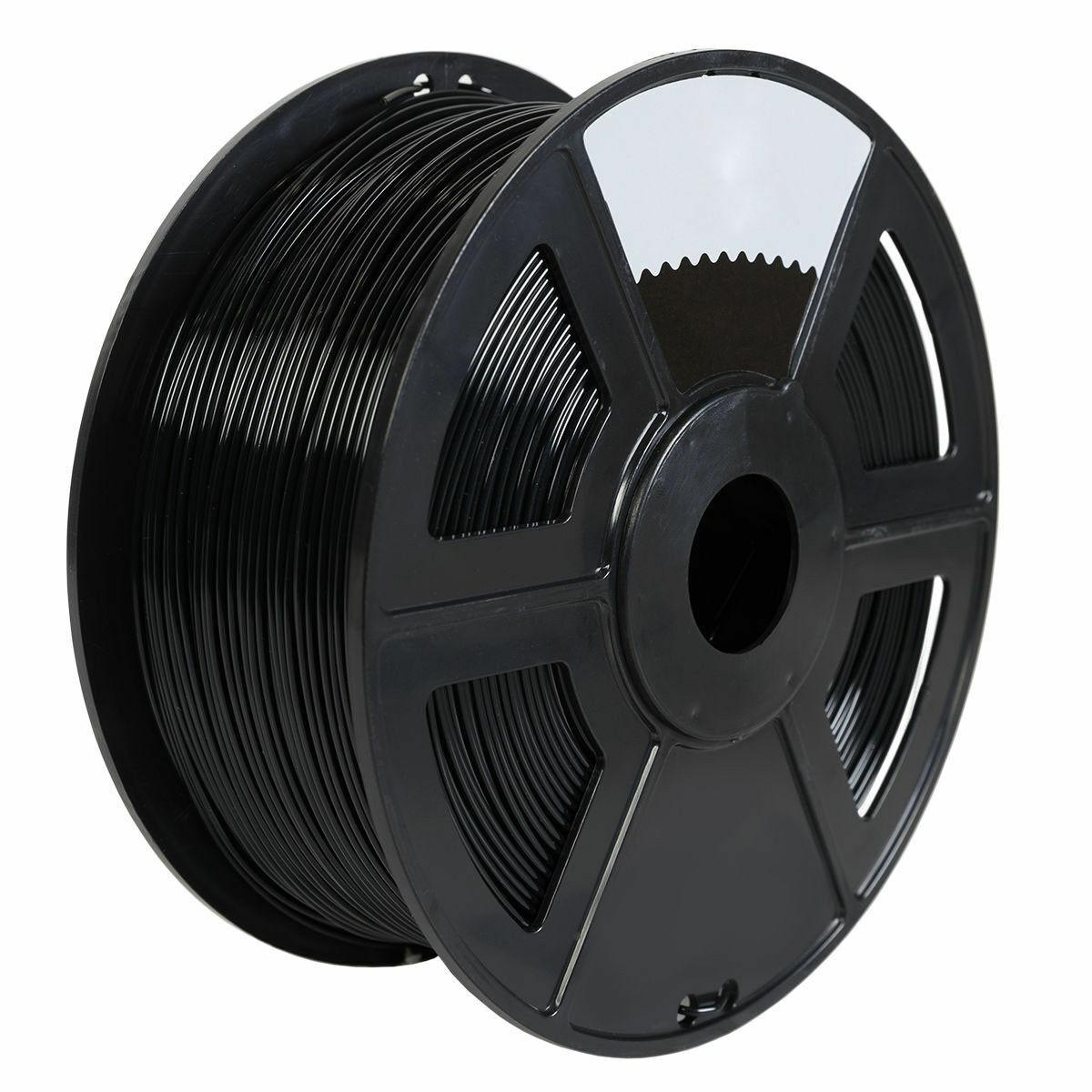 Black PLA 3D Printer Filament 1kg/2.2lb 1.75mm MakerBot RepRap