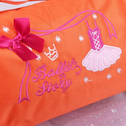 Girls Ballet Duffle Gym Swim Shoulder Kids Dance Training Tote Hand Bag Dancing