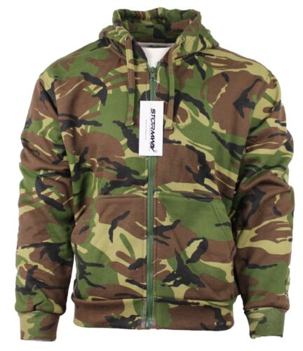 Kids Army Military Camo Camouflage Tracksuit Fleece Hoodie Zipper Jogger Bottom
