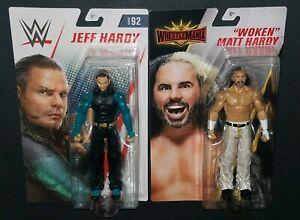 Lot De 2 Figurines De Lutte Wwe Mattel Jeff & Woken Matt Hardy Boyz!   Lire Descr.