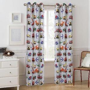 Mainstays Grommet Room Darkening Transportation Kids Bedroom Curtain ...