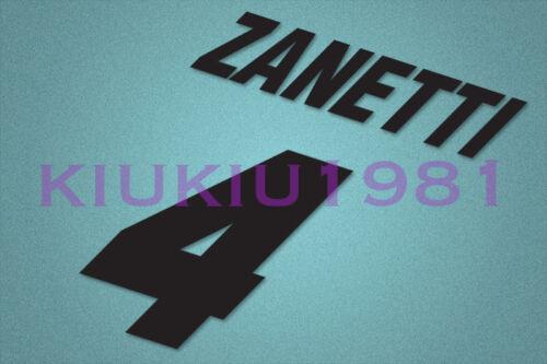 Inter Milan Zanetti #4 1995-1996 Awaykit Nameset Printing