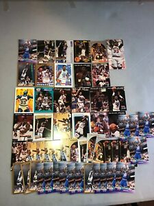 Patrick-Ewing-Lot-of-54-Knicks-24-Different-Cards-Base-Inserts-USA