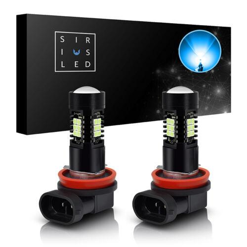 SiriusLED 2x H11 LED Fog Light Daytime Lights 30 Watt 1200LM Bulbs ICY BLUE