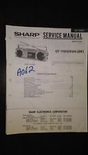 sharp qt-70 Service Manual Original book boombox ghettoblaster tape player radio