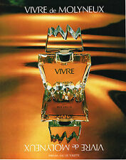 PUBLICITE ADVERTISING 104  1980  MOLYNEUX  pafum pour femme Vivre *