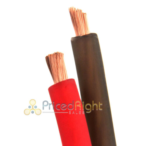100/' Super Flexible 8 Gauge Power /& Ground Wire Cable 50/' ft Red 50/' ft Black