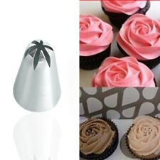 #1M//2D//F Rose Flower Cream Icing Piping Nozzle Pastry Tips Baking Cake DecorTool