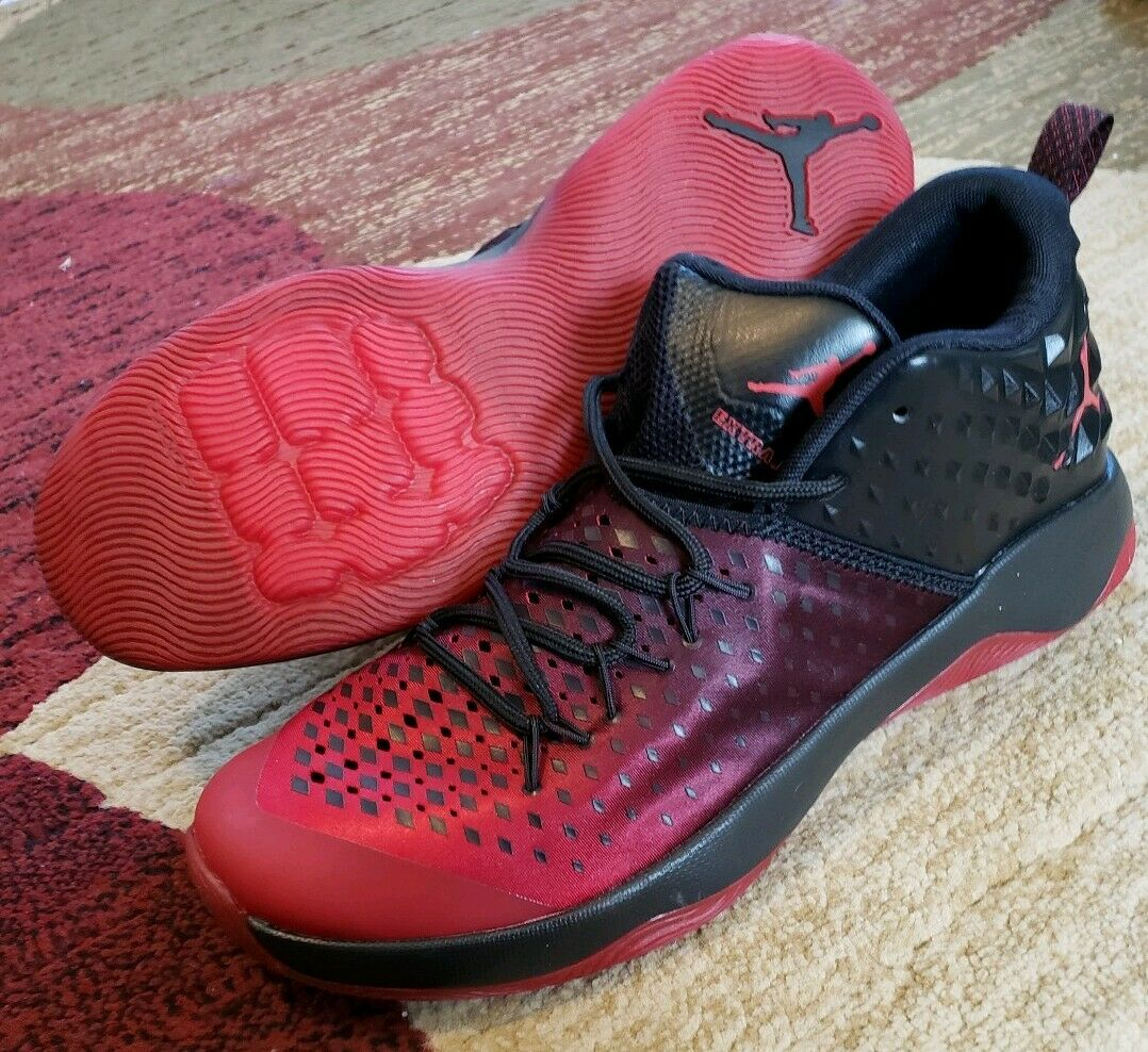 the best attitude f1e71 a3767 ... Nike Air Jordan Extra Fly Basketball shoes shoes shoes Mens Sz 10.5 Red  Black Jumpman 854551 ...