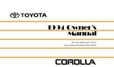 1994 toyota corolla owners manual user guide reference operator book rh ebay com 1994 toyota corolla owners manual download 94 toyota corolla owners manual pdf