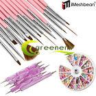 20pcs Nail Art Design Set Dotting Painting Drawing Polish Brush Pen Tools w/Gift