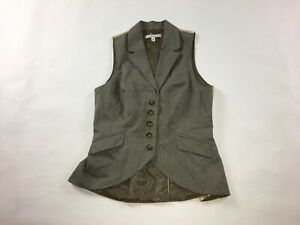 Women-039-s-CAbi-Liverpool-Riding-Vest-Size-S-Small-Lined-Style-175-Brown-G12