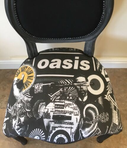 Chalk Painted Music Room Oasis Barbers Reloved Chair Grey Indie Mod Xmas Band