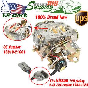 carb car carburetor for nissan 720 2 4l z24 engine 1983 1986 1984 1985 us ebay