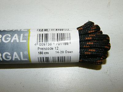 BERGAL NEGRO ZAPATO DE MONTAÑA CORDÓN 5mm GRUESO cordón 120-180cm