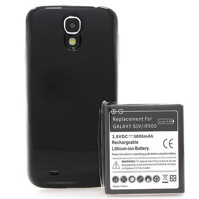 Samsung Galaxy S4 i9500 i9505 Power Akku Batterie 5800mAh Bumper Cover schwarz