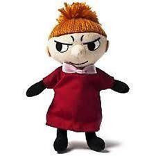 "Oficial Peluche De Chica LITTLE MY MOOMIN Juguete Moomins 6.5"" Rojo Abrigo-The"