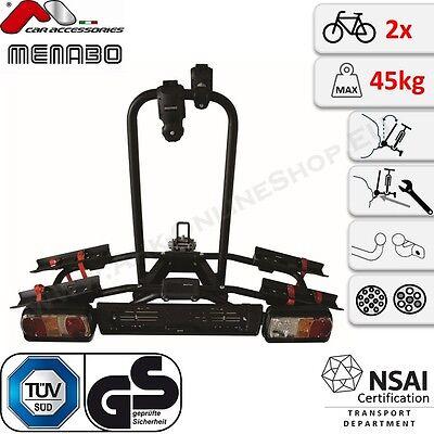 NAOS Tilting klappbar Menabo Fahrradträger Anhängerkupplung Heckträger 2 Räder