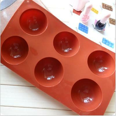 Half Ball Sphere Silicone Cake Mold Muffin Chocolate Cookie Baking Mould Pan Vog