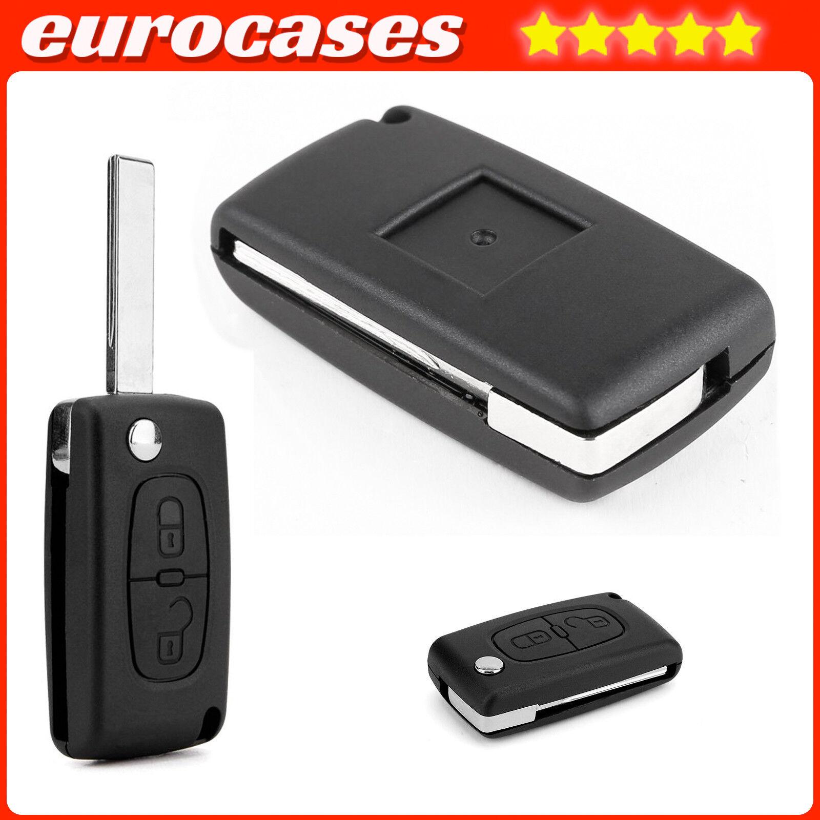 2 Botón Llave Carcasa Flip-Shell Para Peugeot 807 3008 5008 experto PEU03